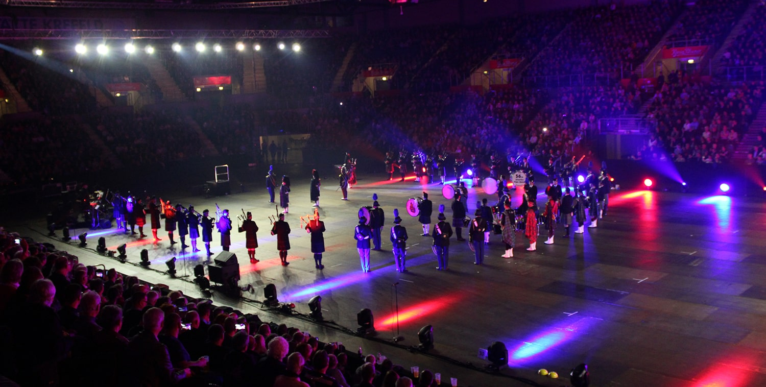 Royal Music Show, Deutschland Military Tattoo, Tattoo, Krefeld, NRW, Yala-Arena, Stefan Frech, Dudelsack, Edinburgh, Pipers of the World